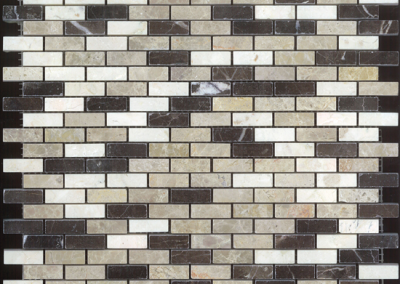 "OLY Boutique Selections Brick Layered Mosaic Blends 11.8""x11.8""Polished"
