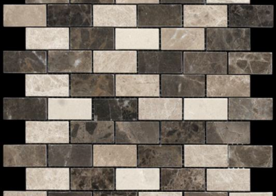 "OLY Boutique Selections Mosaic Blends 1"" x 2""Polished"