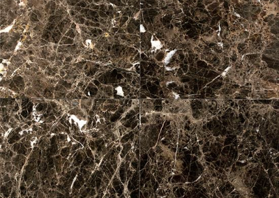 "OLY Marble Dark Emperador Size 12""x 12"" Polished"