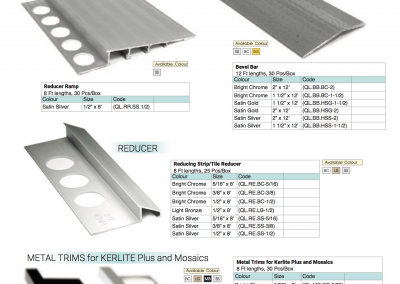 OLY Reducer Ramp Bevel Bar Reducer Metal Trims For Kerlite Plus And Mosaics